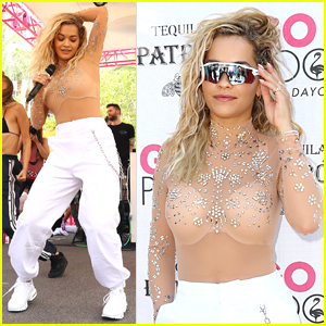 Rita Ora Hits the Stage at GO Pool & Dayclub in Vegas!