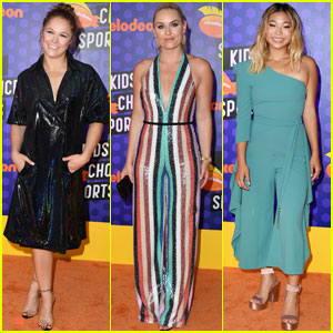 Ronda Rousey, Lindsey Vonn & Chloe Kim Step Out For Nickelodeon Kids' Choice Sports Awards!