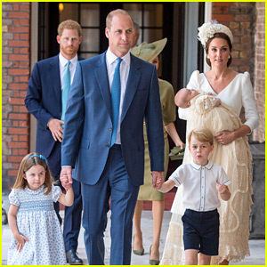 Kate Middleton & Prince William Arrive for Prince Louis' Christening with Princess Charlotte & Prince George