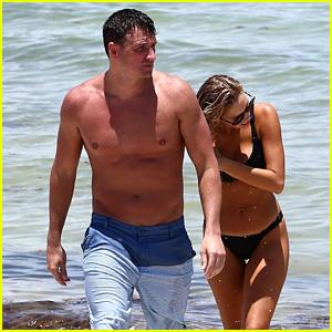Ryan Lochte & Wife Kayla Rae Reid Enjoy a Trip to the Beach in Miami!