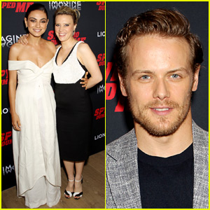 Mila Kunis, Kate McKinnon & Sam Heughan Premiere 'Spy Who Dumped Me' in NYC!