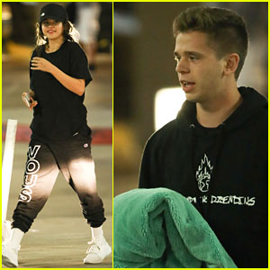 Selena Gomez & Caleb Stevens Enjoy Night Out With Their Friends