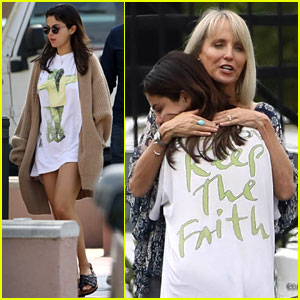 Selena Gomez Wears 'Keep the Faith' T-Shirt While Stepping Out for Breakfast