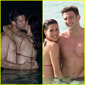 The Bachelorette's Becca Kufrin Hits the Beach with Garrett & Blake in New Photos!