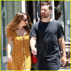 Exes Tobey Maguire & Jennifer Meyer Reunite for a Family Lunch!