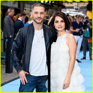 Tom Hardy Supports Wife Charlotte Riley at 'Swimming with Men' UK Premiere!