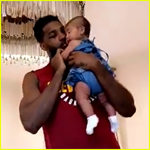 Khloe Kardashian Shares Cute Video of Tristan Thompson Dancing With Baby True!