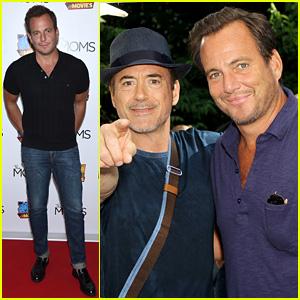 Robert Downey Jr. Supports Pal Will Arnett at 'Teen Titans' Screening