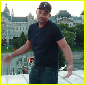 Will Smith Scales a Bridge for Drake's 'In My Feelings' Challenge - Watch Now!