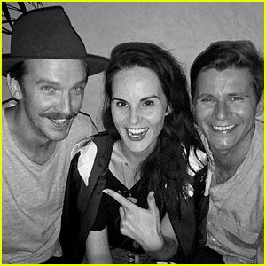 'Downton Abbey' Co-Stars Dan Stevens, Michelle Dockery & Allen Leech Have a Mini Reunion in LA!