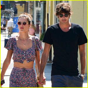 Alessandra Ambrosio & New Boyfriend Nicolo Oddi Flaunt PDA, Hold Hands on Lunch Date