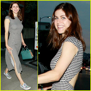 Alexandra Daddario Shows Some Skin While Out With Friends