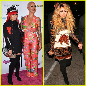 Amber Rose Gets Support from Bestie Blac Chyna at App Launch Party!
