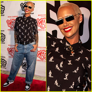 Amber Rose Checks Out Nick Cannon's Wild 'N Out Restaurant