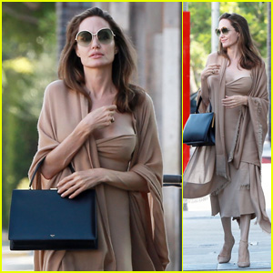 Angelina Jolie Steps Out for Lunch With Son Pax in LA!
