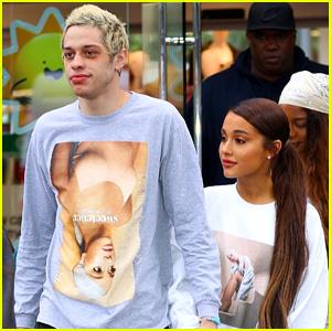 Ariana Grande & Pete Davidson Go Shopping in Her Merch!