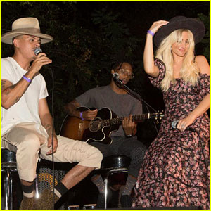 Ashlee Simpson & Evan Ross Perform at Austin Brown's Canyon Sessions