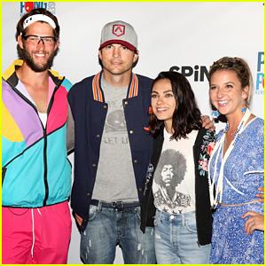 Ashton Kutcher & Mila Kunis Play Ping Pong for a Good Cause!