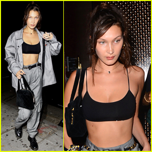 Bella Hadid Flashes Abs During Night Out in WeHo