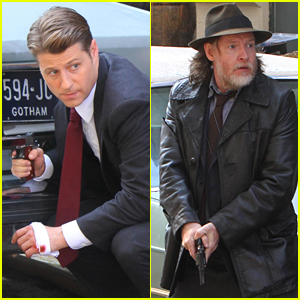 Ben McKenzie & Donal Logue Get Into Character While Filming 'Gotham'!