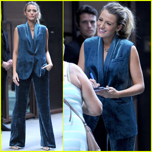 Blake Lively Stops to Meet Fans While Leaving Photo Shoot