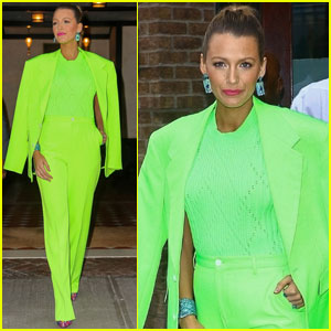 Blake Lively Goes For Neon Green During 'A Simple Favor' Event!