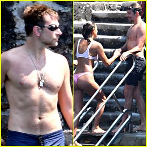 Bradley Cooper & Irina Shayk Flaunt PDA at the Beach in Italy!