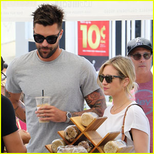 Brittany Snow Has a Day Date at the Farmers Market!