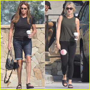 Caitlyn Jenner & Sophia Hutchins Head Out for a Coffee Run