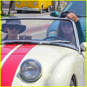 Caitlyn Jenner & Sophia Hutchins Go for a Spin in Vintage Car