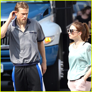 Charlie Hunnam Works On 'Jungleland' Scenes with Jessica Barden