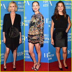 Charlize Theron, Amber Heard, & Jennifer Garner Go Glam for HFPA Banquet