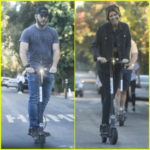 Chris Pratt & Girlfriend Katherine Schwarzenegger Ride Bird Scooters Together!