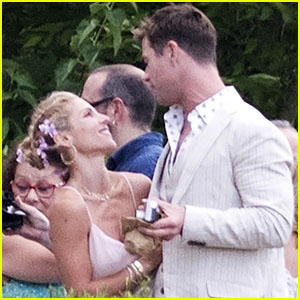 Chris Hemsworth & Elsa Pataky Feel the Love at Elsa's Brother's Wedding in Spain!