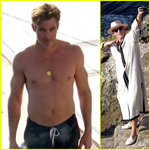 Chris Pine Puts His Shirtless Body on Display on Vacation with Girlfriend Annabelle Wallis!