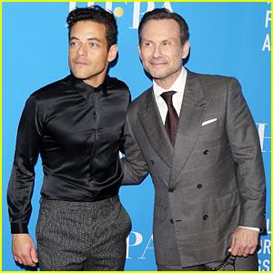 Christian Slater & Rami Malek Look Sharp at HFPA Banquet