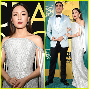 'Crazy Rich Asians' Cast Channels Old Hollywood Glamour at L.A. Premiere!