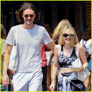 Dakota Fanning & Boyfriend Henry Frye Share a Laugh After Lunch