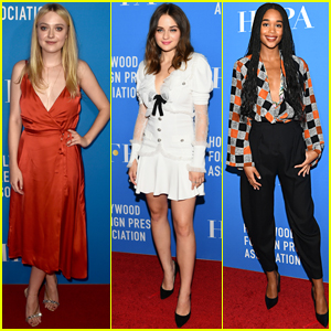 Dakota Fanning Joins Joey King & Laura Harrier at HFPA Banquet