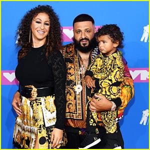 DJ Khaled Hits the Red Carpet With Nicole Tuck & Baby Asahd at MTV VMAs 2018!