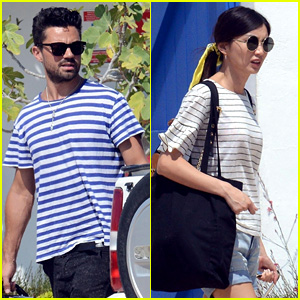Dominic Cooper & Gemma Chan Pack Up After a Trip to Spain