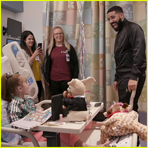 Drake Surprises Young Heart Transplant Patient in the Hospital