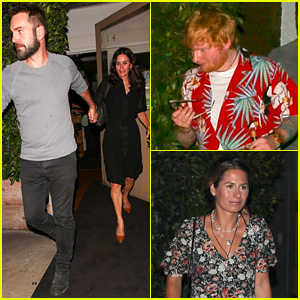 Ed Sheeran Double Dates with Longtime Friend Courteney Cox