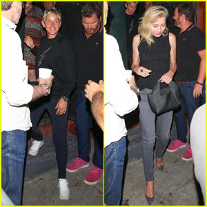 Ellen DeGeneres & Portia De Rossi Head Out After Ellen's Comedy Show in LA!