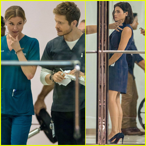 Emily VanCamp & Matt Czuchry are Joined by New Co-Star Jenna Dewan on 'The Resident' Set