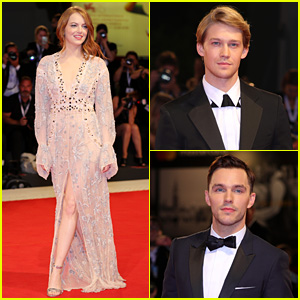 Emma Stone Stuns at 'The Favourite' Venice Premiere with Joe Alwyn & Nicholas Hoult
