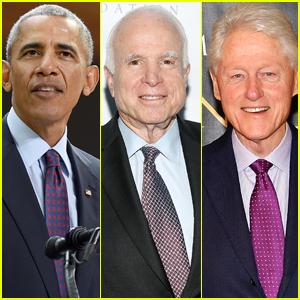 Former Presidents Barack Obama & Bill Clinton Remember Senator John McCain