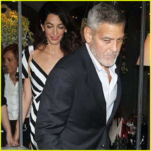 George & Amal Clooney Have a Dinner Date in Lake Como!