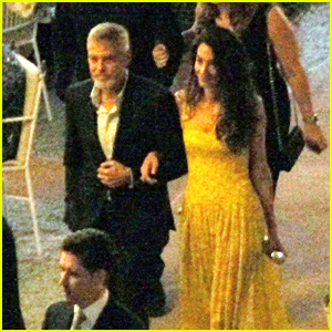 George & Amal Clooney Enjoy a Night Out to Dinner With Friends in Italy!