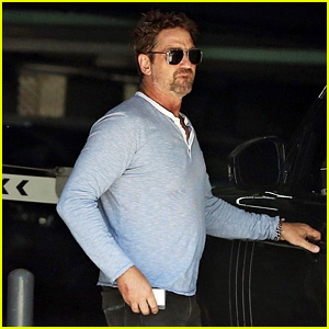Gerard Butler Attends a Business Meeting in LA